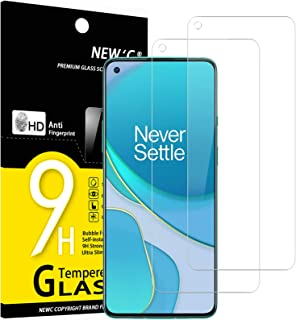 NEW'C 2-Stuks, ScreenProtector voor OnePlus 9, Gehard Glass Schermbeschermer Film 0.33 mm ultra transparant, ultra resiste...