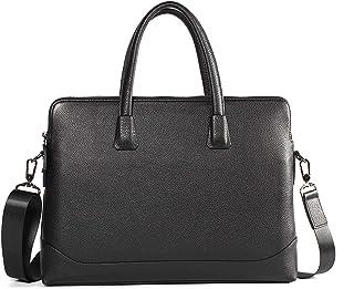 Crossbody Bag Business Leather Briefcase Men's Cross Tote First Layer Leather Shoulder Bag Laptop Work Bag