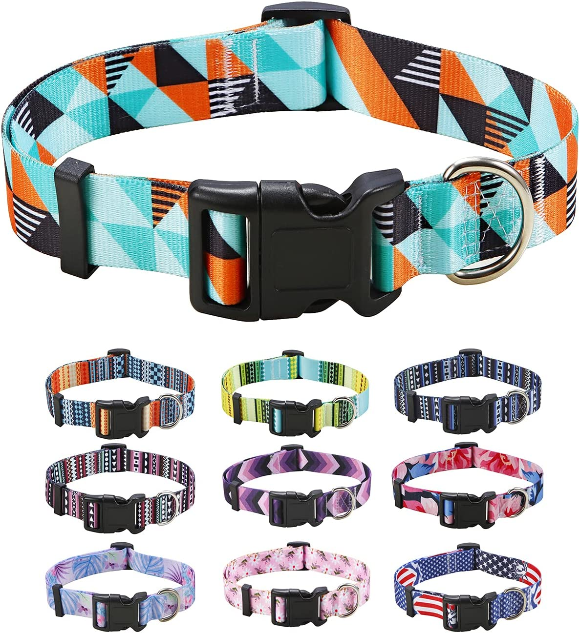 Yunneihe Dog unisex Collar for Small Medium 10 Patterns Time sale Dogs Des Large