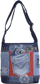 Sunsa Damen Tasche Umhängetasche, Canvas bag, Jeans/Denim Taschen, Hobo Schultertasche Damentaschen Vintage Crossbody Teen...