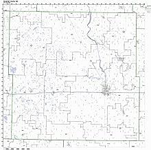 Stutsman County, North Dakota ND ZIP Code Map Not Laminated