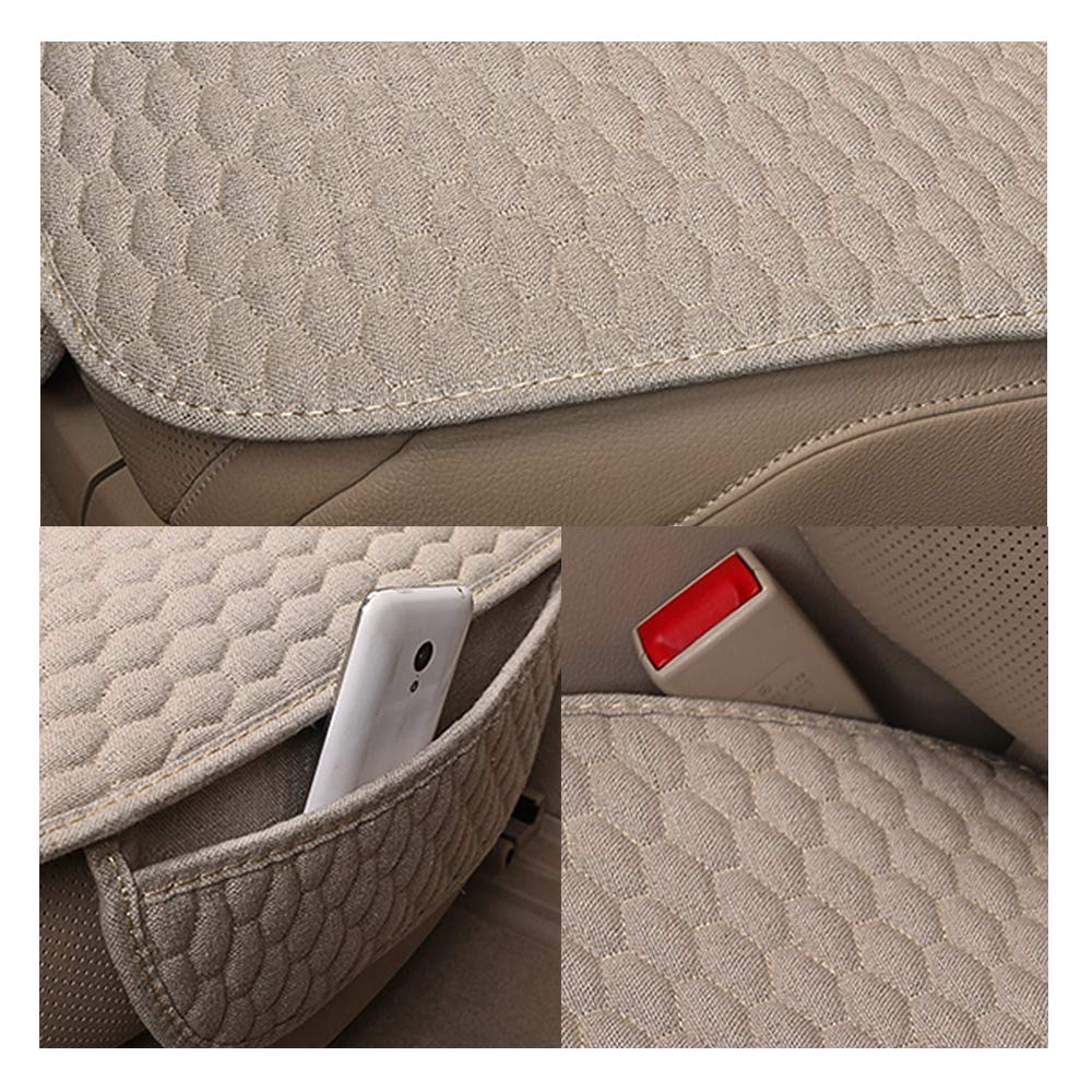 Universal Car Seat Pads Cushions 1 Pack Black Front Seat Only Seat Cover for Car Ventilated Bottom Auto Seat Covers Bamboolady Linen Car Seat Covers