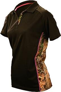 e67311f9 Gamehide Ladies Wilderness Camo Tipped Black Polo Shirt for Women