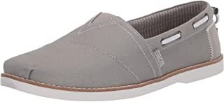 Skechers Chill Luxe - Industrial Canvas slip on womens Boat Shoe