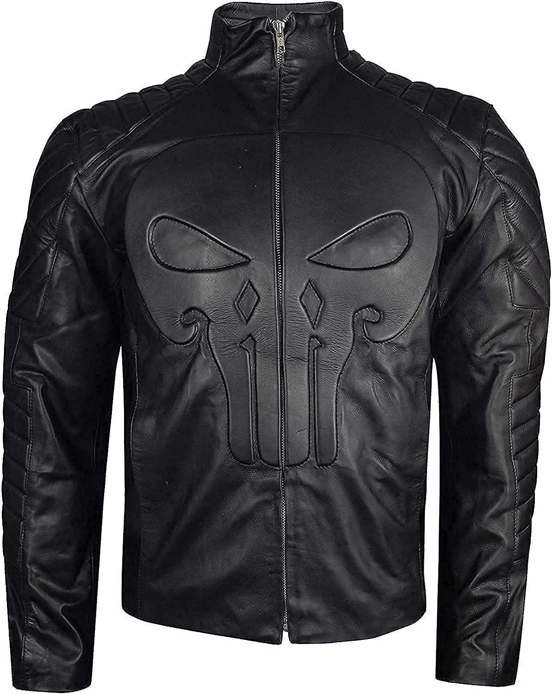 Mens Punisher Season 2 JonBernthal Leather Jacket