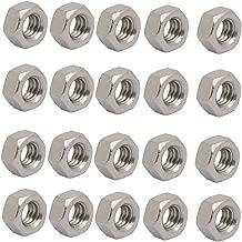 sourcingmap 4pcs 5//16-18 UNC Fil acier Inox type 304 fix /écrou hex ton argent