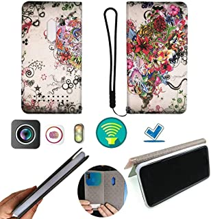 FY Flip Case For Tecno Spark 4 Lite Cover Flip PU Leather + Silicone Ring case Fixed PKH