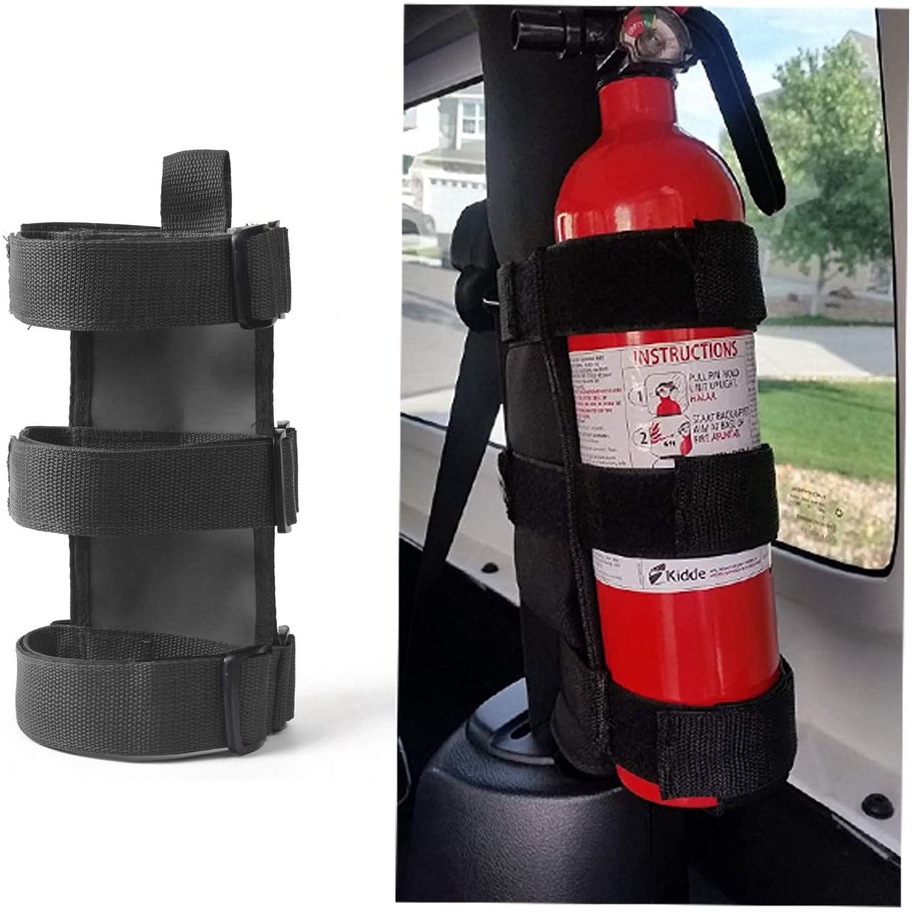 Seattle Mall Adjustable Roll Bar Fire Extinguisher Mount Jeep lb for 3 Holder Inexpensive