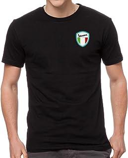 e2c118d92b83a3 Vespa Scooter Bestickte Auto T-Shirt, super Qualität, 100% Baumwolle - 4085