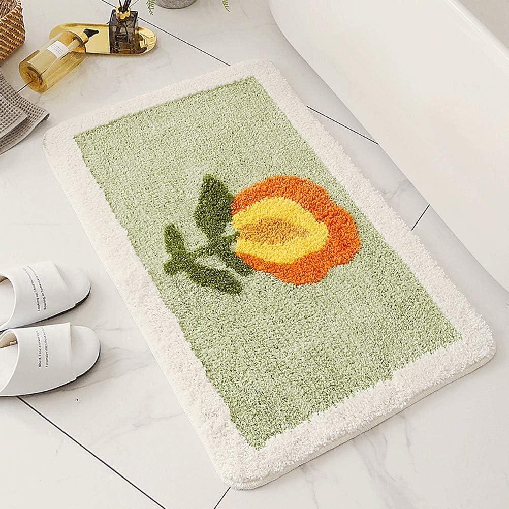 teapot Bathroom Rug Mat Max 84% OFF Daisy Pad Non-Slip Foot Absorbent 5 ☆ popular
