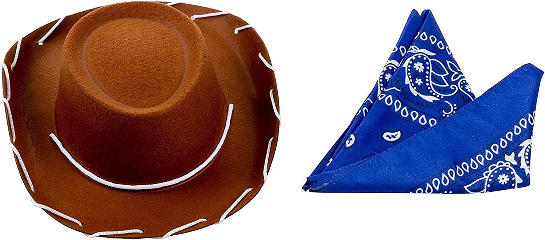 Blue Panda Cowboy Hat Rare and Bandana Kids for Birthd Sale price Themed Western