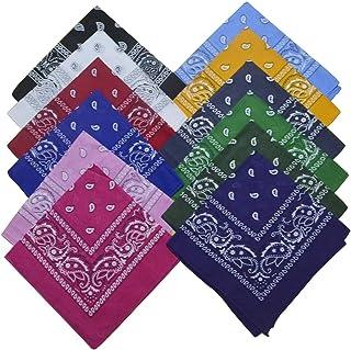 100% algodón, pañuelos de cabeza, bandanas para la cara, bufanda, para hombres, mujeres, pañuelos, diadema, color negro ab...
