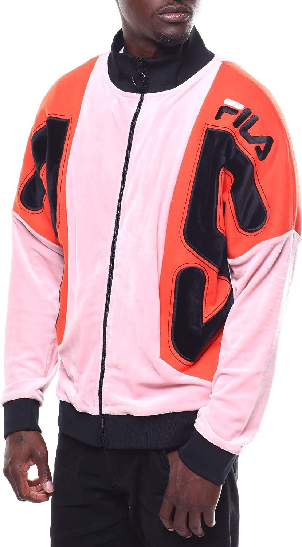 Fila Men's Harlen New York Mall Jacket Tomato Max 63% OFF Pink Black Cherry