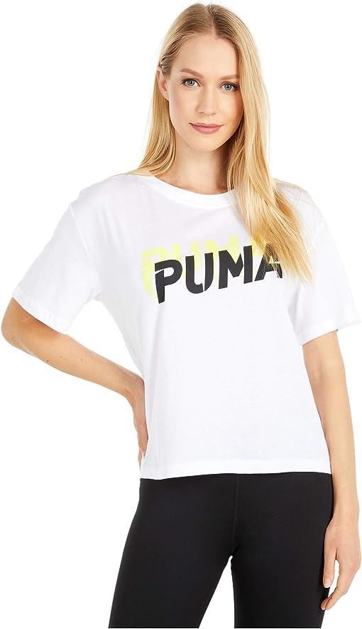 Puma White/Sunny Lime