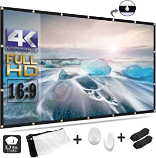 OWILLZ Projector Screen 16:9 HD Foldable for Home Theater Cinema Indoor Outdoor (120in)