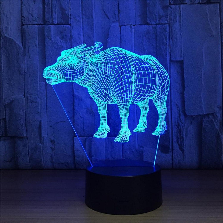 3D Bunte Stereo Mit 5 Farbverlauf Touch LED LED LED Acryl Kreative Geschenk Tischlampe Nachtlicht B07G73S75S | Elegant  5b4ba0
