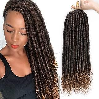 AISI BEAUTY Faux Locs Crochet Hair Braiding Goddess Locs Crochet Hair for Black Women Long Synthetic Crochet Goddess Locs 6packs/Lot 24 Roots(1B/27,20inch)