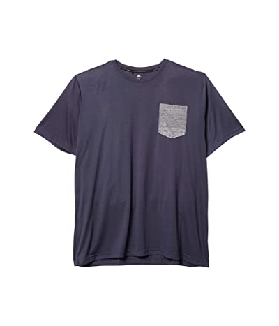 adidas Golf Adicross Pocket Tee (Midnight Grey) Men