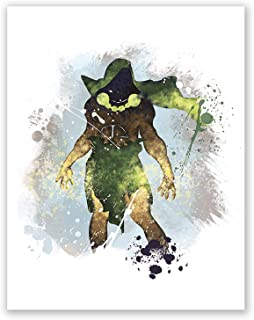 PGbureau Doctor Doom Poster - Fantastic Four Inspired Watercolor Wall Art Print for Boys - Nursery Decor - Superhero (8x10)