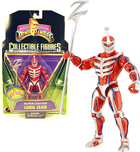 Bandai Year 2008 Power Rangers Mighty Morphin Series 6 Inch Tall Collectible Action Figure - Super Legends LORD ZEDD with Z Staff