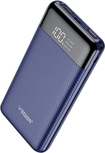 Veger W1087 LCD Display 10000 mAh Li Polymer Power Bank Blue