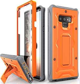 ArmadilloTek Vanguard Designed for Samsung Galaxy Note 9 Case (2018 Release) Military Grade Full-Body Rugged with Built-in Screen Protector & Kickstand (Orange)