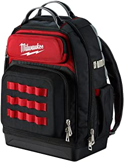 Milwaukee Ultimate Jobsite Backpack,Constructed of 1680D Ballistic Materials,with 48 Total Pockets, 5X More Durable and 2X More Padding, unsurpassed Comfort and Jobsite Performance!