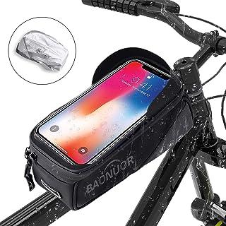 BAONUOR - Funda para Cuadro de Bicicleta para el Manillar de la Bicicleta, Resistente al Agua, con Pantalla táctil de TPU, para iPhone 8 Plus/X/XS MAX/XR/Samsung S8 Plus/S9