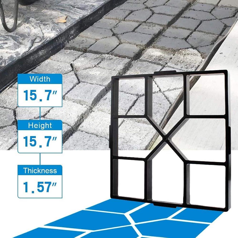 岸安全でないクアッガ2個コンクリート金型の再利用可能なウォークメーカーPathmateストーン成形足がかりパスメーカー舗装庭パティオ芝生ガーデンDIY歩道舗装ブリック金型