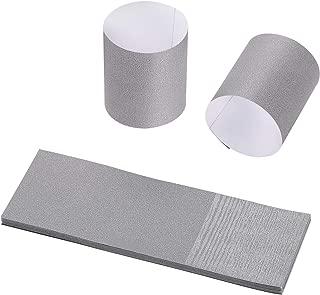Gmark Paper Napkin Band Box of 2500, Paper Napkin Rings self Adhesive (Grey)
