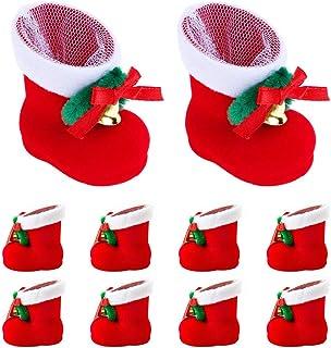 クリスマスブーツ お菓子入り 10個セット 長靴 サンタブーツ キャンディ靴 お菓子 クリスマスブーツ お菓子入り 10個セット 長靴 サンタブーツ キャンディ靴 お菓子 子供 かわいい レッド