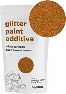 Hemway MICROFINE Glitter Paint Additive Emulsion Water Based Paints 100g (Copper Holographic)