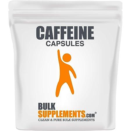 Bulksupplements.com Caffeine Capsules (200 mg) Caffeine Pills - Caffeine Pills 200mg - Stay Awake Pills - Caffeine Tablets (100 Vegetarian Capsules)
