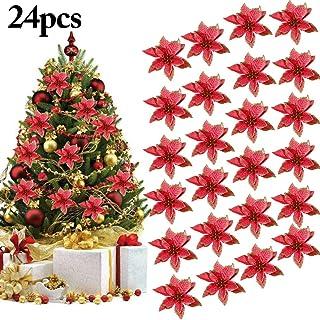 Outgeek Flores para Navidad, 24 Piezas 5.91