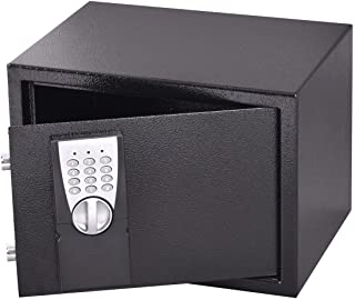 Safstar Electronic Digital Security Lock Box Wall Cabinet Safe for Jewelry Cash Valuable Home Office Hotel (9.8