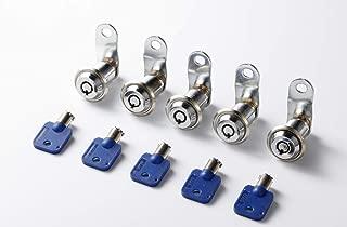5 pcs 19mm Tubular Cam Lock 7/8''Length for Pinball Arcade Machine Door, Lockers, Cupboards, Drawers, Cabinet, Toolbox (19mm)
