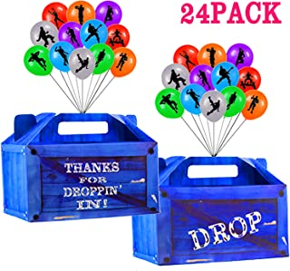 Game Party Box Video Game Party Supplies - 24 Pack Party Bags and 24 Pack Game Balloons for Kid Birthday Party Favors Theme Party Decorations
