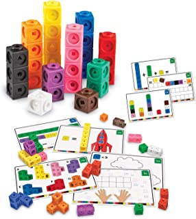 HOOME Early Math Mathlink Cube Activity Set - Set of 100 - Connecting Manipulative For Preschoolers Aged 3+ and Elementary...