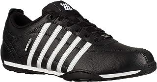 K. Swiss Arvee 1.5 Negro Blanco Gunmetal Hombres Cuero Trainers Zapatos