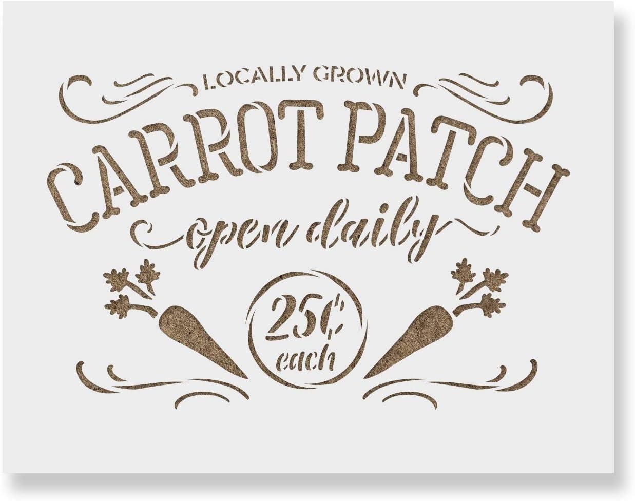 Locally Grown Carrots Farm Sign for New arrival Brand Cheap Sale Venue Stencils Reusable Stencil -