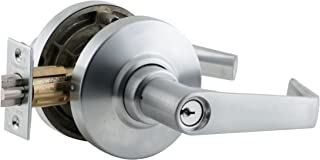 Schlage AL80PD SAT 626 11-096 10-025 C123 Cylindrical Lock, Storeroom Function, C123 Keyway, Saturn Lever with Rose, Satin Chrome Finish