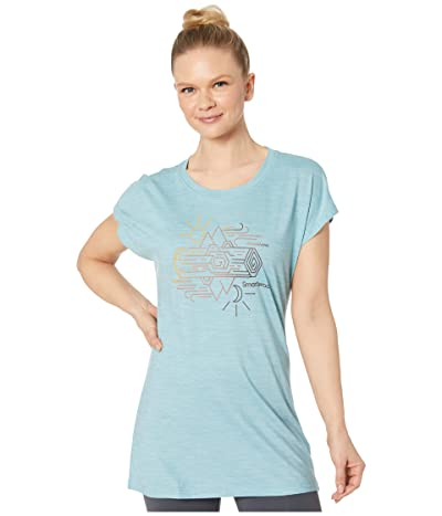 Smartwool Merino Sport 150 Mountain Reflection Tee (Wave Blue Heather) Women