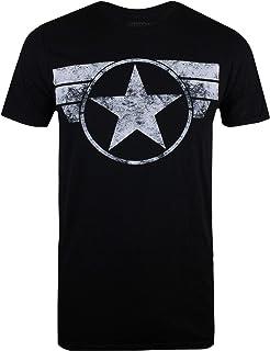 Marvel Captain America-Cap Logo Capucha para Hombre