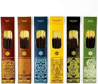 Jembrana Incense Sticks Mix 6 Scents (144 Sticks Total), 24 Sticks Each of Sandalwood, Amber, Maha Triloka, Gardenia, Padma & Raja Harum, Sold by Bali Soap