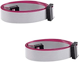 SamIdea 2-Pack IDC Connector Flat Ribbon Cable, F/F, 16 Pins 2.0 mm Pitch, IDC Extension Cable for Raspberry Pi, 20cm/8