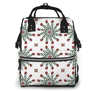 Dozen Roses Multi-Function Travel Backpack Nappy Bag,Fashion Mummy Bag