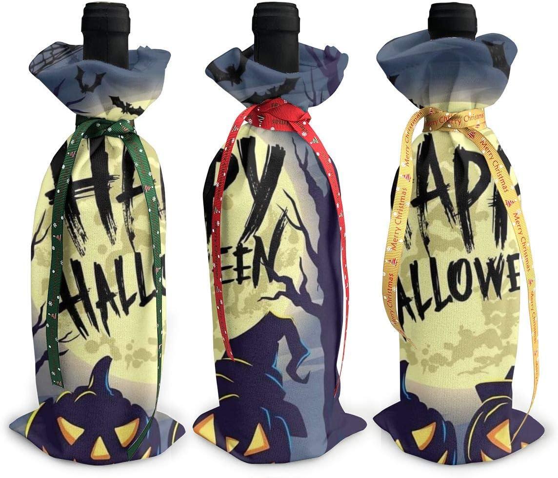 Moon Pumpkin Head Special sale item Halloween Night3Pcs Christmas Gl Max 55% OFF Red Xmas Wine