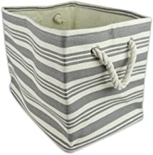 DII Woven Paper Storage Bin, Small Rectangle, Urban Gray