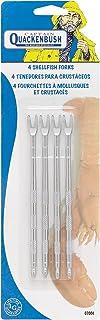 Captain Quackenbush Shellfish Seafood Forks, Steel, 5-Inches, Set of 4