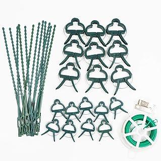 Pince à plante, attache à plante réglable, attache en fil métallique avec coupe, pince fixe pour plantes de jardin, roses,...